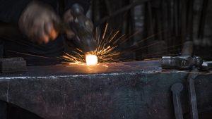 Blacksmith Sparks Flying