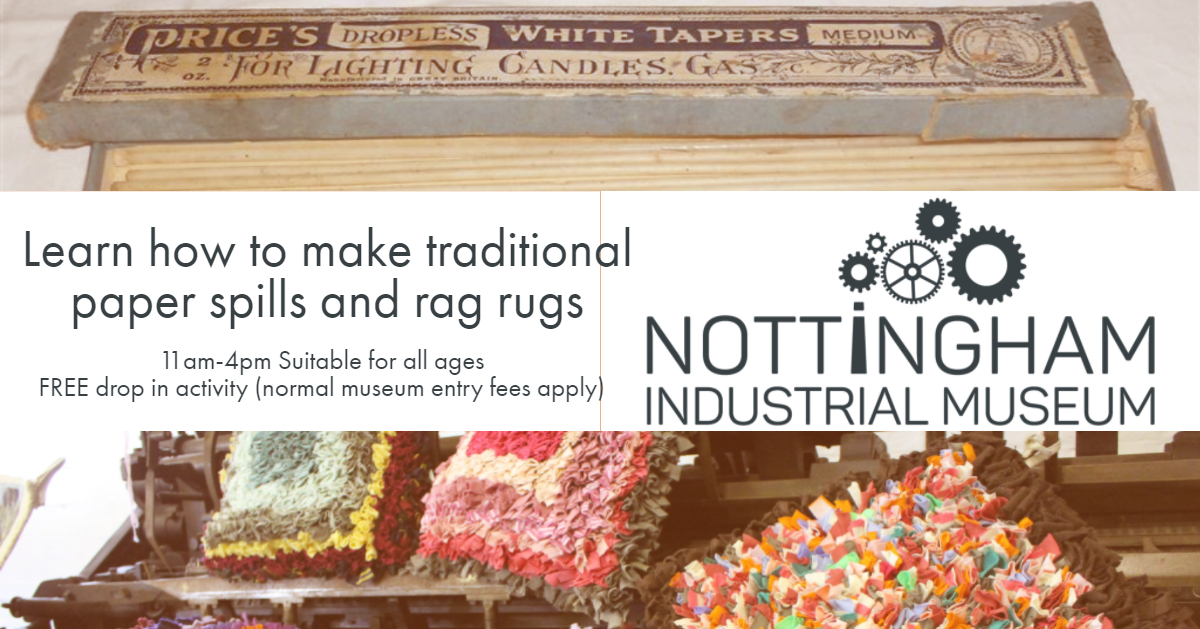 Drop In Paper Spill And Rag Rug Making Demonstrations At Nottingham Museum