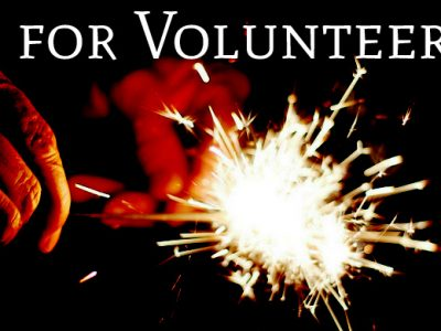 V Is For Volunteer