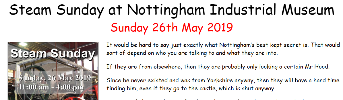 Oh My Nottz Visits Nottingham Industrial Museum